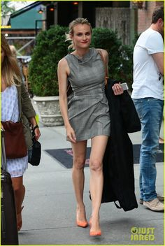 Full Sized Photo of diane kruger wears three chic dresses in one morning 01 | photofull | Just Jared