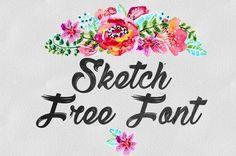 DLOLLEYS HELP: Sketch Free Font