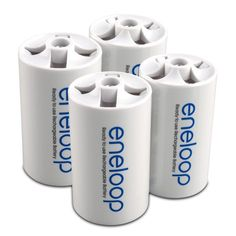 Best rated eneloop SEC-DSPACER4PK D Size Spacers for use with AA battery cells