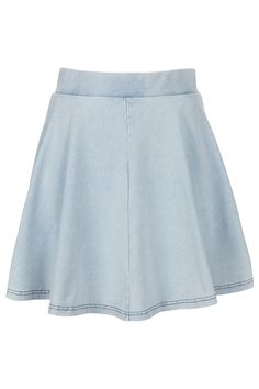 High Waisted Denim Look Skater - Skirts - Clothing - Topshop USA