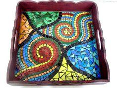 Creative Inspiration, Blog, Mosaic Pieces, Mosaic Artwork, Mosaic Tray, Mosaic Projects, Craft Tables, Crochet Fashion, Creative Ideas
