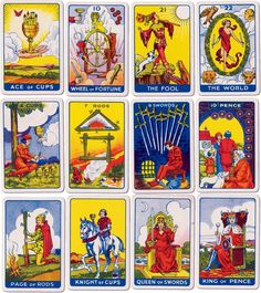 tarot card images | ... publications dundee london 78 cards extra card instruction booklet