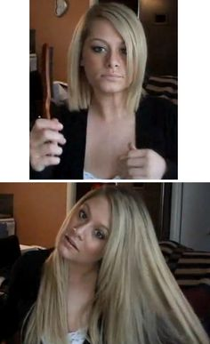 Clip in hair extensions before and after. How To Clip Hair Extensions In Short Hair. Befor-and-after-extensions