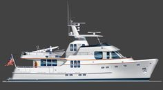 Seaton Yachts - Voyager Trawler Yacht Design by Stephen R. Yacht Design, Boat Design, Trawler Yacht, Trawler Boats, Expedition Yachts, Yacht World, Small Yachts, Yacht Broker, Yacht Interior
