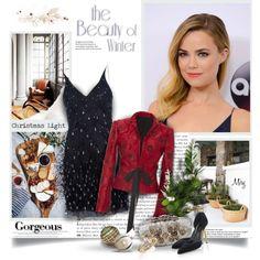A fashion look from November 2015 by thewondersoffashion featuring Andrea, Oscar de la Renta, Prada, Meadham Kirchhoff, Christmas, oscardelarenta, CelebrityStyl...