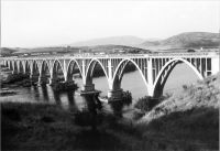 Puente de la N-630 sobre el río Tajo. Inundado por el embalse de Alcántara. Foto: Wifredo López Vecino - (C) Todos los derechos reservados
