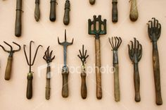 old claw garden tools
