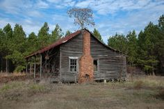Washington County GA Abandoned Farmhouse Cracker Style Architecture Photograph Copyright Brian Brown Vanishing South Georgia USA 2013