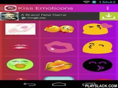 Kiss Emoticons  Android App - playslack.com ,  In Kiss Emoticons find an excellent collection of kiss icons that you can share with friends, family and the love of your life.  There is no better way to tell that person what you want to convey, with a emoticon, select the icon that best suits what you want to convey with kiss stickers, press image and share. Features:  ★ Free It's application which you can download for free. ★ Speed ​​ It has been fully optimized for all the application run…