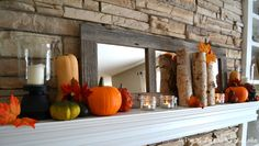 Fall Inspired Mantel