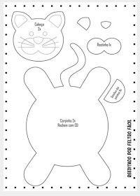 icu ~ Pin by Myriam dos Reis Cedro on DIY - Craft Mug Rug Patterns, Animal Sewing Patterns, Felt Patterns, Stuffed Animal Patterns, Sewing Toys, Sewing Crafts, Sewing Projects, Cat Coasters, Felt Crafts Diy