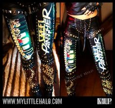 Studded Steel Panther Leggings - My Little Halo Rock Outfits, Gothic Outfits, Panther Costume, 80s Hair Metal, Steel Panther, Concert Fashion, Toxic Vision, Band Shirts, Glam Rock