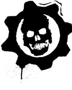 Gears of war logo black and white for Gears of war logo tattoo