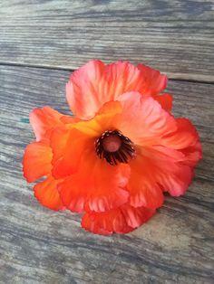 Vintage 1960s Silk Flower Poppy Millinery Hat by bycinbyhand