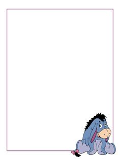 """Eeyore - Project Life Journal Card - Scrapbooking ~~~~~~~~~ Size: 3x4"""" @ 300 dpi. This card is **Personal use only - NOT for sale/resale** Logo/clipart belongs to Disney. *** Click through to photobucket for more versions of this card with different Eeyore poses ***"""