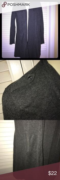 Sweater with pockets Great condition. Pockets and shoulder details. White House Black Market Sweaters Cardigans