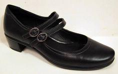 ECCO 'Pearl' Black Leather  Mary Jane Pump Size 37/US 6-6.5 #Ecco #MaryJanes