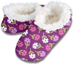 Snoozies Sugar Violets No Skid Slipper Sock Footwear (Large) Snoozies. $12.99