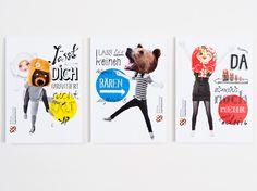 Could be fun for a mascot spread. EIGA Design - DRJA Plakat- und Postkarten-Kampagne