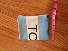 Tiny Toms Flag Zipper Pouch  Light Blue Zipper by bybmg on Etsy, $7.50