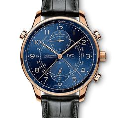 The Portugieser Chronograph Rattrapante is back. Introduced in and updated in IWC's split-second chronograph returns in a limited run. IWC announced three new models, in honor of the company's European flagships in Milan, Paris, and Munich. Iwc Watches, Cool Watches, Watches For Men, Casual Watches, Beautiful Watches, Luxury Watches, Omega Watch, Bracelets, Split Second
