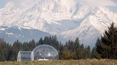See-thru Dome Tent in the Mountains