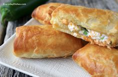 Puff pastry makes anything fabulous—these tasty jalapeno pillow puffs are filled with savory onion, gooey melted cheese and just the right amount of spice!