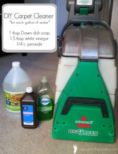 DIY cleaning formula for carpet cleaner