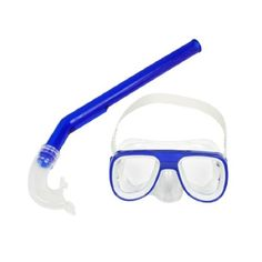 Purchase Como Dark Blue Frame White Head Strap Swimming Goggles Mask Snorkel Set - Swimming Styles For Newbes