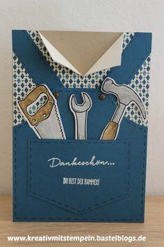 Hammer, Dankeskarte, Werkzeug, Stampin up,