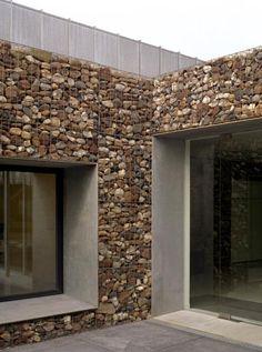 Rock Wall Effect   Artimo textiles showroom