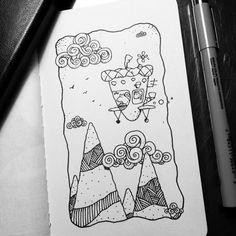 Dave Garbot — Flying Squirrels #illustration #drawing #penandink...