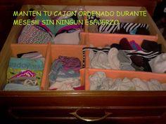 Como organizar tu ropa en cajones :-)