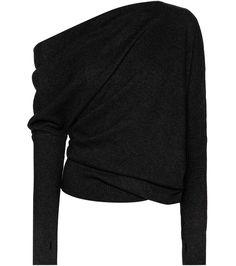 Tom Ford - Schulterfreier Pullover aus Cashmere - Der schwarze Cashmere-Pullover von Tom Ford ist eine äußerst schmeichelnde Version der in dieser Saison angesagten Off-Shoulder-Silhouette. Das in Italien gefertigte, kuschelige Modell verfügt zudem  über schmale Ärmel mit Daumenlöchern. Kombinieren Sie es mit einem Bleistiftrock und Heels. seen @ www.mytheresa.com