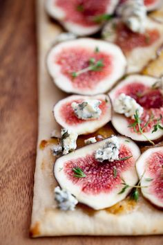 fresh fig & stilton flatbreads