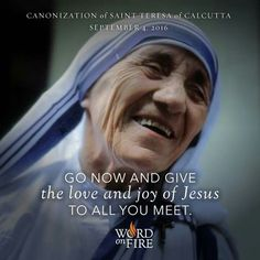 Teresa of Calcutta Catholic Saints, Roman Catholic, Saint Teresa Of Calcutta, Missionaries Of Charity, Learning To Pray, Mother Teresa Quotes, Catholic Quotes, Blessed Mother, Osho