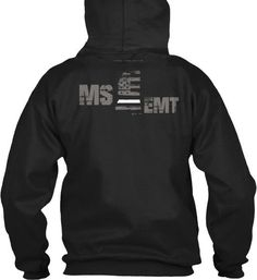 Mississippi EMT Thin White Line Hoodie  Wear your MS Paramedic and EMS pride and show your support for the Mississippi Thin White Line.  - Official Thin Line Style Apparel, printed in The USA - 50% Cotton, 50% Polyester - Double-needle stitching for durability, double-lined hood, pill-resistant air jet yarn - Machine Wash Warm, Tumble Dry Low. Do not bleach.