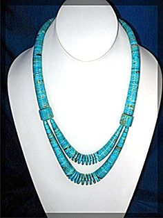 Necklace Turquoise Santa Domingo LUPE LOVATO (Image1) Jewelry Ideas, Jewelry Art, Beaded Jewelry, White Necklace, Turquoise Necklace, Making Ideas, Beading, Santa, Diy Projects