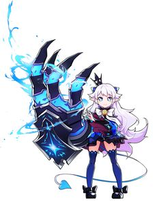 View an image titled 'Lu Art' in our Elsword art gallery featuring official character designs, concept art, and promo pictures. Game Character Design, Character Design Animation, Character Design Inspiration, Character Art, Kawaii Chibi, Anime Chibi, Neko, Manga Art, Anime Art