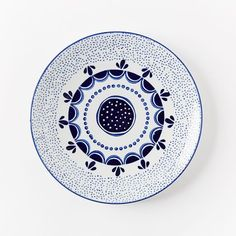Blue and white glazed porcelain collector's edition plates | west elm: