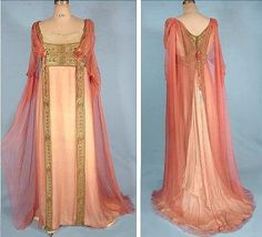 Pink and gold evening gown. by holly