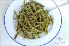 Cinzia ai fornelli: Fagiolini con sesamo e salsa di soia col Bimby Green Beans, Vegetables, Blog, Vegetable Recipes, Blogging