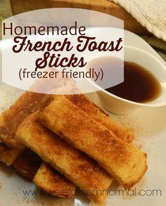 Homemade French Toast Sticks (Freezer Friendly)