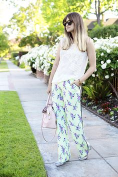 Loose pajama style pants via Late Afternoon