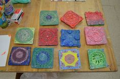 Islamic Clay Tiles - Art Teacher Diaries Ceramic tiles using addition and subtraction. Awesome lesson in slab rolling and slipping/scoring.