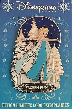 DISNEY PIN PARIS DLRP FROZEN FUN ELSA PIN TRADING DAY FETE GIVREE LE 1000