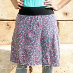 Use an old dress to create an Insanely Easy Skirt Pattern that fits you just perfectly.
