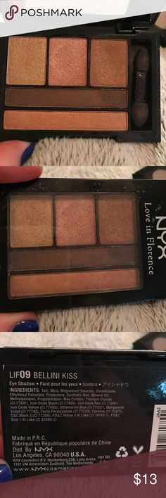 NYX Love in Florence Eyeshadow Palette NYX Love in Florence Eyeshadow Palette   Lightly used. 100% authentic. NYX Makeup Eyeshadow