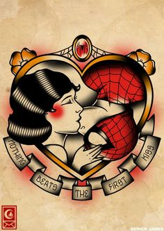 Awww! yay for spiderman kisses