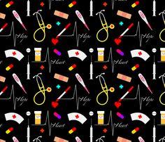 Nurse Practitioner Rpt fabric by rivlo on Spoonflower - custom fabric Nursing School Quotes, Nurse Quotes, Nursing Wallpaper, Nurse Drawing, School Binder Covers, Nurse Appreciation Week, Nurse Aesthetic, Wallpaper Fofos, Nurse Love